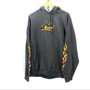 Lost enterprises VTG flame hoodie size large